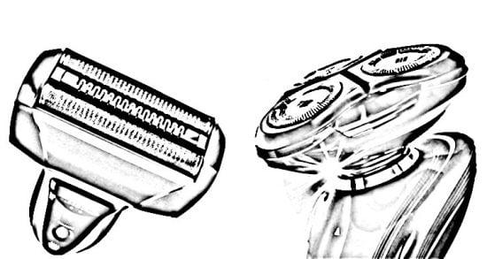rasoirs électriques avec grilles vs avec lames rotatives