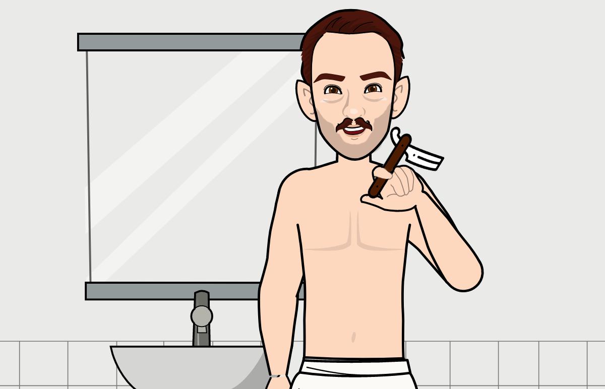 bien se raser avec un rasoir coupe-choux