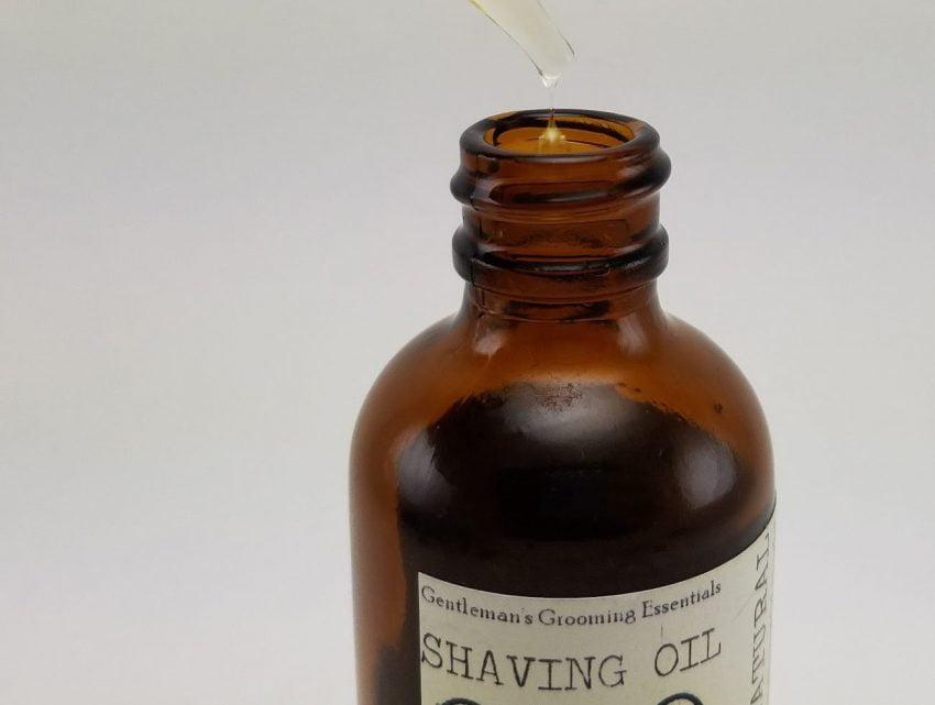 différentes huiles de prérasage