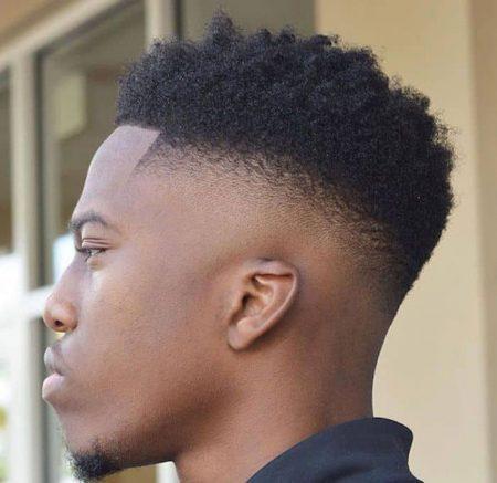 Dégradé cheveux frisés