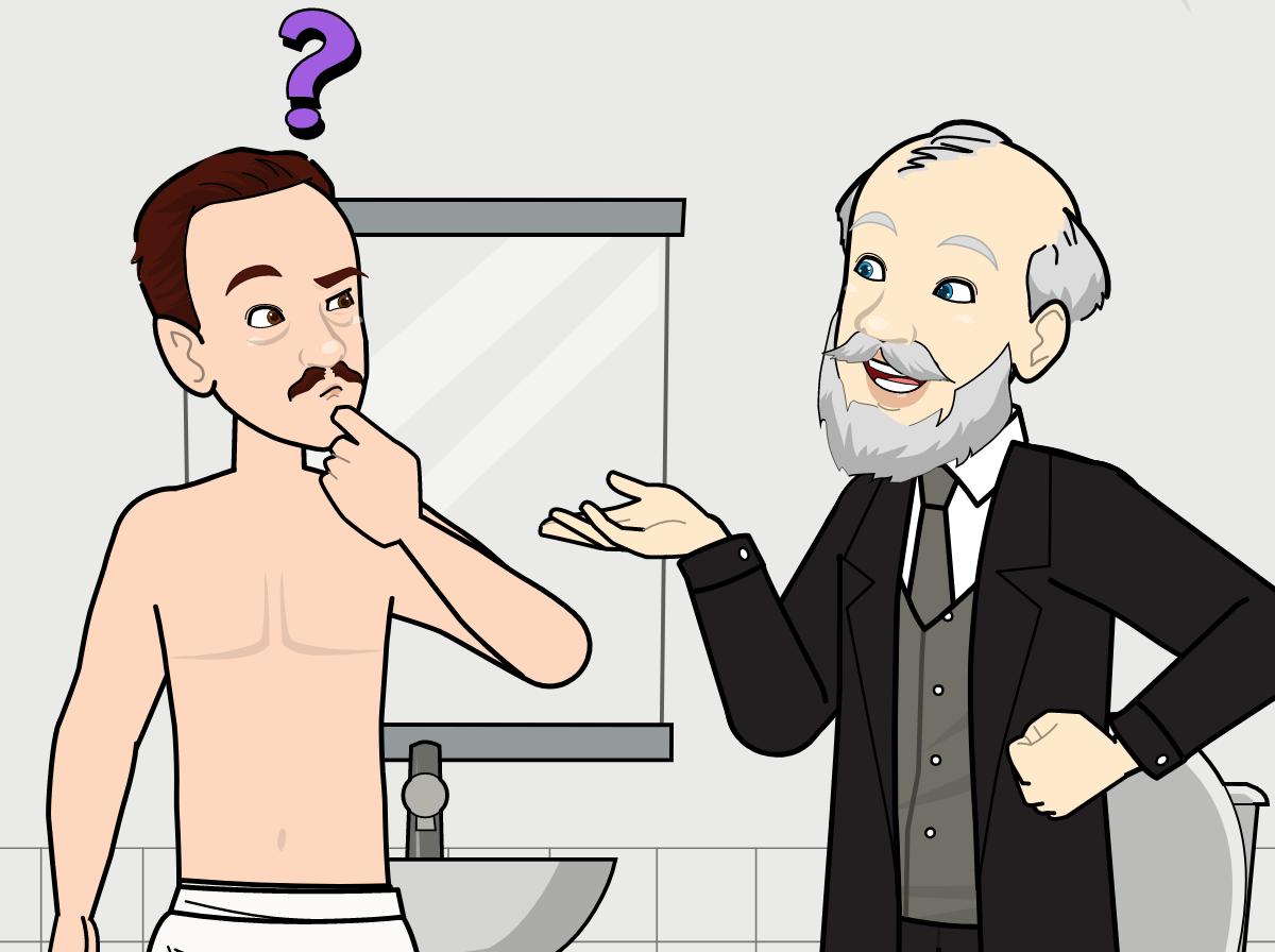 appliquer de la crème dépilatoire pour homme